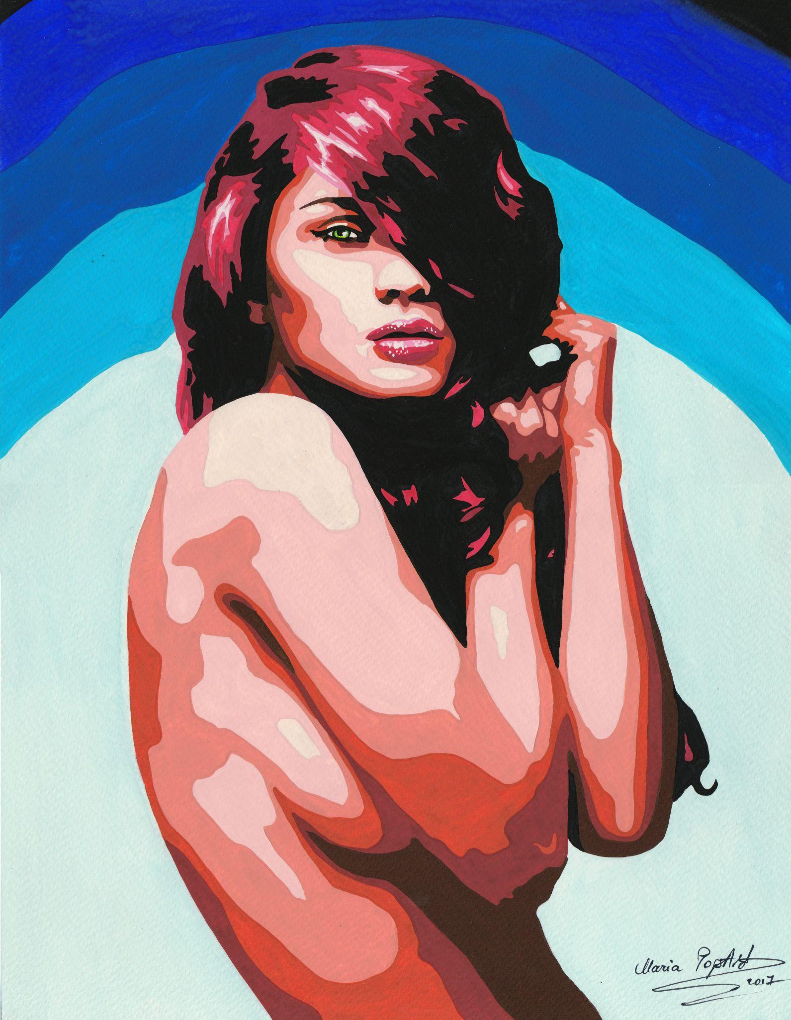 code-0058-ultramarine-watercolor-by-maria-marcu-popart-27-x-35-cm