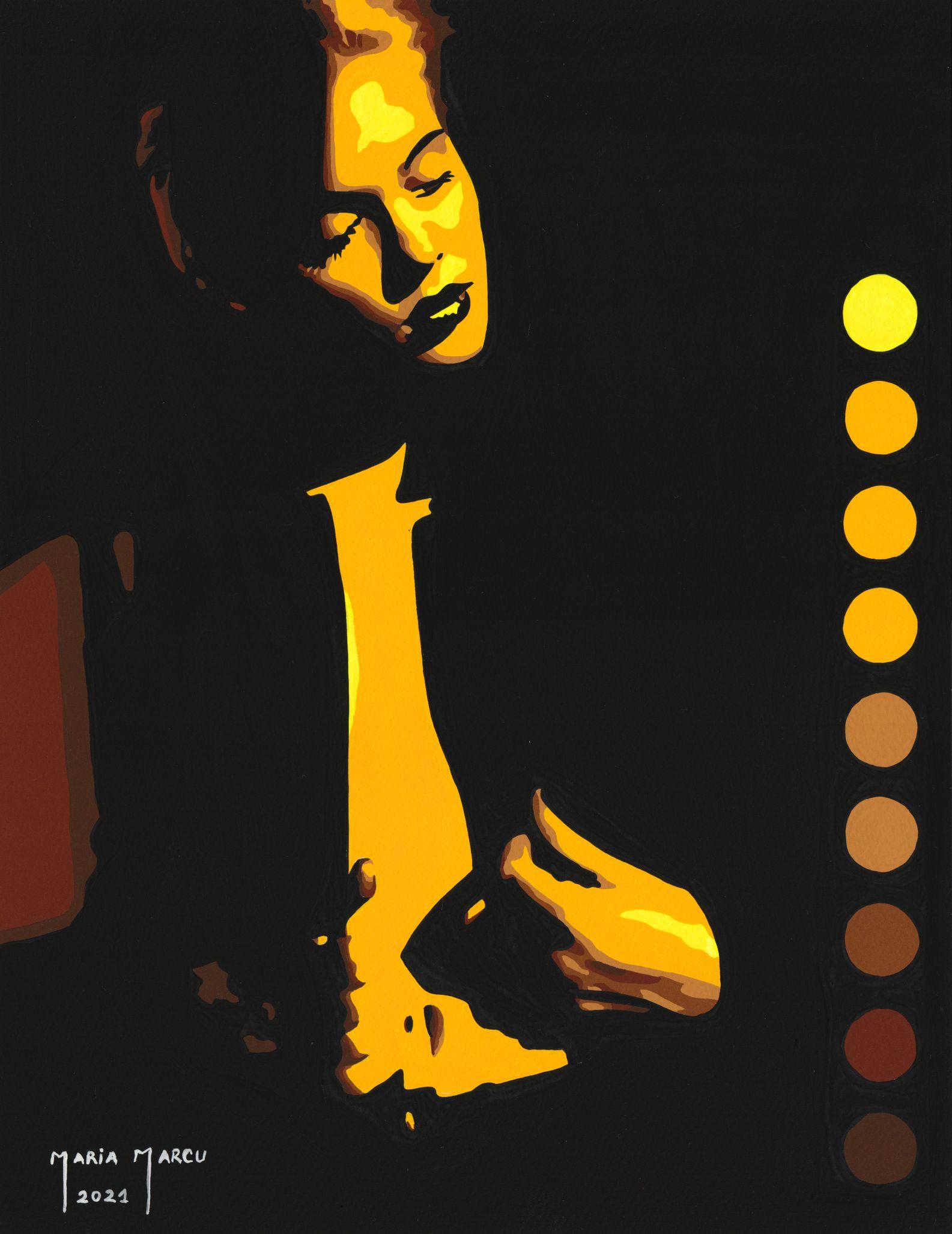 code-0099-starlight-divine-tempera-by-maria-marcu-popart-27-x-35-cm